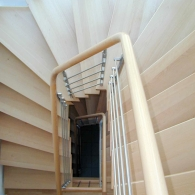 Aufgesattelte Treppe - Treppenauge