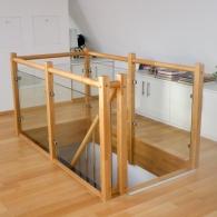 Holz-Glas Galeriegeländer