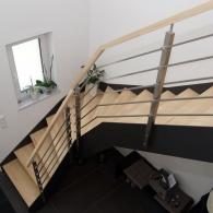 Stahlaußenwangen Treppe